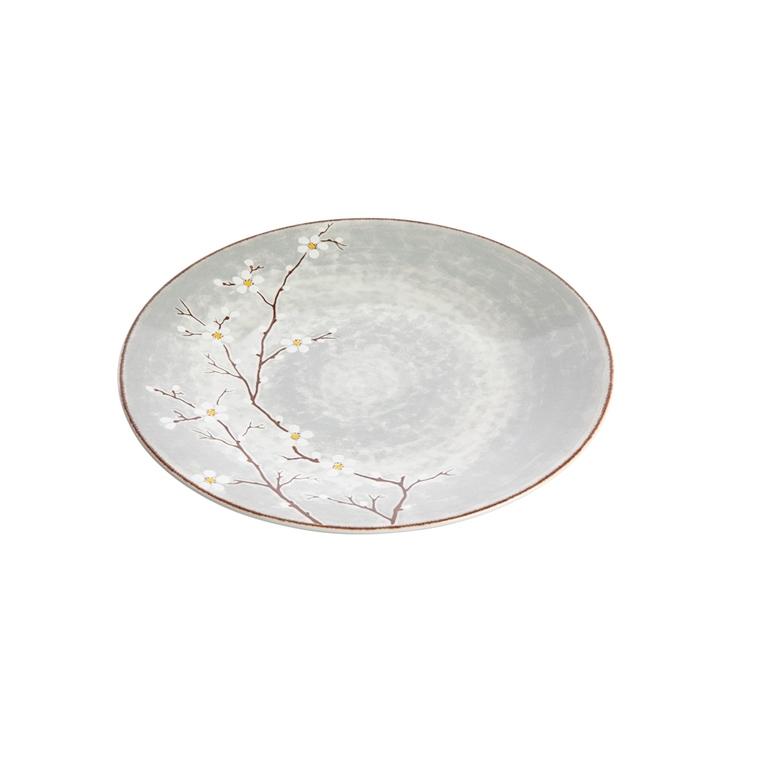 Assiette plate Sakura en céramique grise Ø 27,5 cm 699525