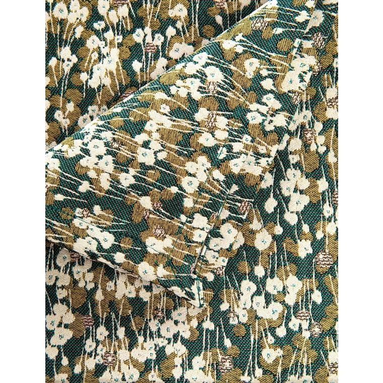 Nappe Colchique verte en polyester motif Liberty 150x250 cm 699602