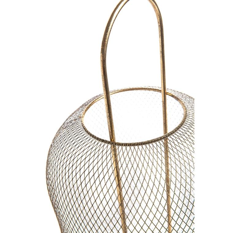 Lampe à poser Nelva à LED en métal doré Ø 24 x H 57 cm 699672