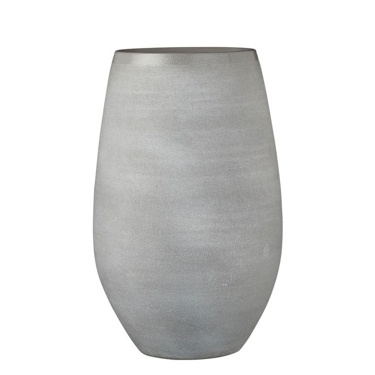 Vase Douro en terre cuite gris clair H 40 x Ø 26 cm 699729