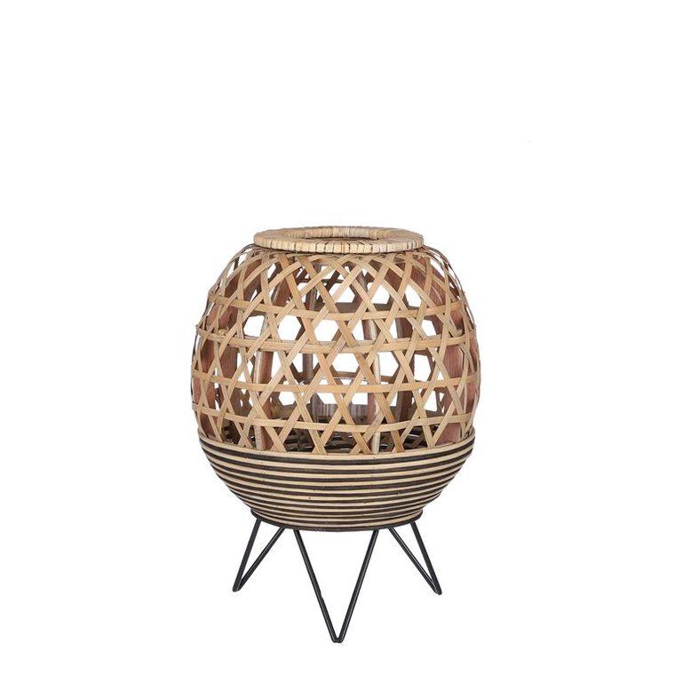 Lampe de table Marvel en bois sur trépied métal Ø 24 x H 31 cm 699758
