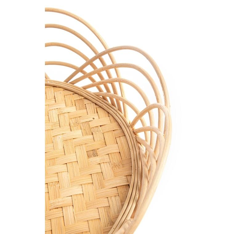 Porte plante en bambou naturel, rotin et poly Wood Ø 42 x H 35 699874