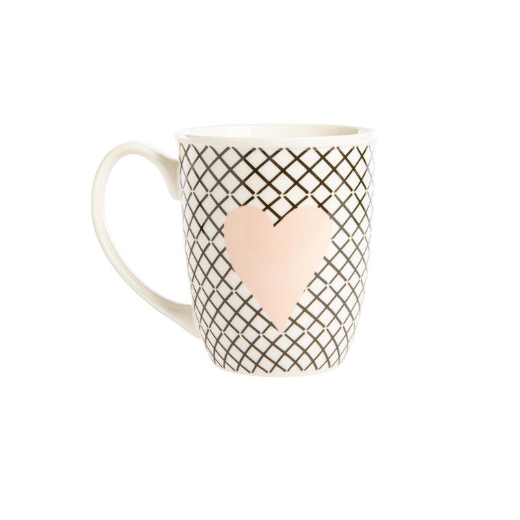 Mug cœur en porcelaine 699989