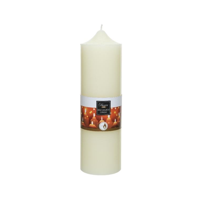 Bougie en cire ivoire H 25 x Ø 7,5 cm 699993
