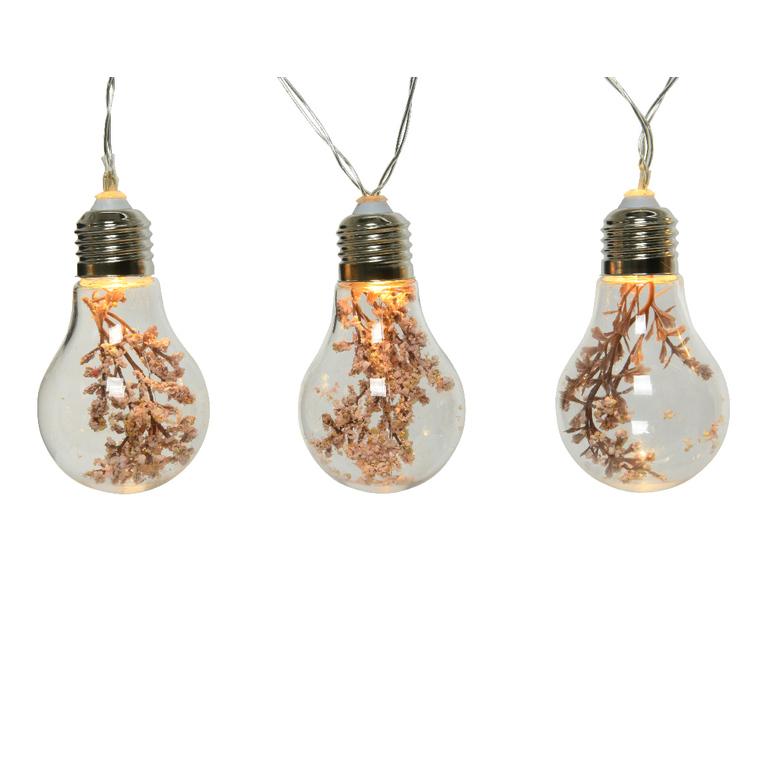 Guirlande lumineuse à 10 ampoules LED et fleurs artificielles L 180 cm 699999