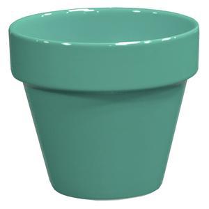 Pot horticole émaillé vert amande Ø 14 x H 13 cm 700215