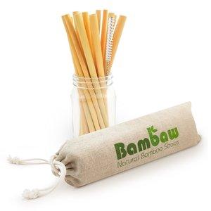 Paille en bambou 22 cm à l'unité 700259