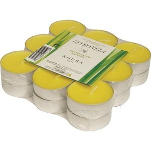Pack de 18 bougies chauffe-plats jaunes anti moustiques Ø 38 mm 700431