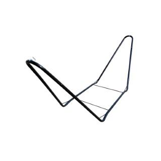 Support pour hamac simple en métal noir 300 x 105 x 74 cm 700496