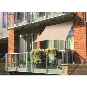 Voile d'ombrage rectangulaire beige spécial balcon 1,4 x 1,4 m 700542