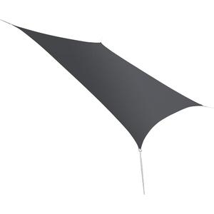 Voile d'ombrage rectangulaire gris spécial balcon 1,4 x 1,4 m 700544
