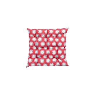 Coussin d'assise matelassé déco carré rouge 40 x 40 x 5 cm 700552