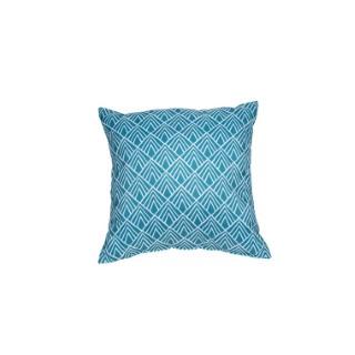 Coussin déco carré bleu Danemark 40 x 40 x 10 cm 700557