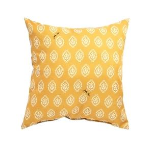 Coussin déco carré jaune 50 x 50 x 18 cm 700568