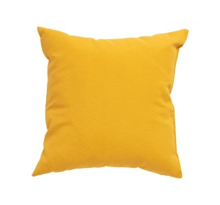 Coussin carré uni jaune curcuma 40 x 40 x 10 cm 700575