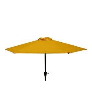 Parasol rond à manivelle uni jaune Ø 250 x h 200 cm 700576