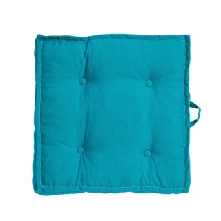 Tatami carré uni bleu 66 x 66 x 15 cm 700585