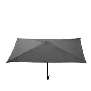 Parasol rectangulaire uni gris 300 x 200 x 200 cm 700608
