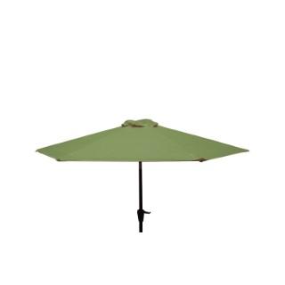 Parasol rond à manivelle uni vert Ø 250 x h 200 cm 700614