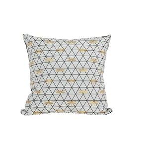 Coussin déco carré en jacquard blanc libellule 50 x 50 x 18 cm 700629