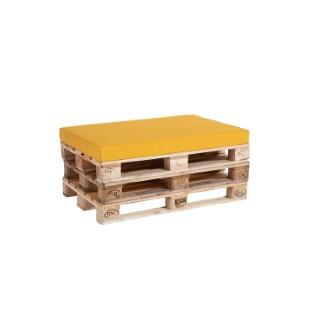 Coussin d'assise jaune curcuma pour palette 119 x 80 x 10 cm 700638
