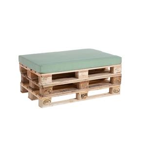Coussin d'assise vert céladon pour palette 119 x 80 x 10 cm 700639
