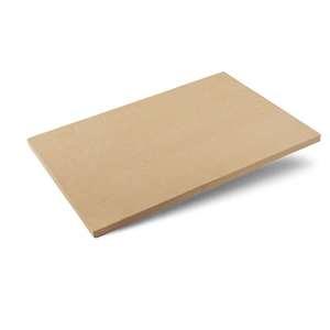 Pierre à pizza large rectangle beige 65 x 43 x 4,5 cm 700679