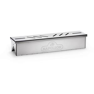 Boitier de fumage gris en acier inoxydable 42 x 4,6 x 7 cm 700680