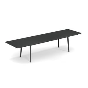 Table plus 4 gris fer ancien grand modèle 330 x 220 x 90 cm 700698
