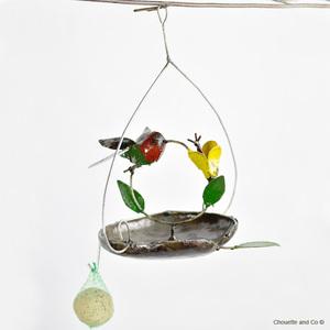 Suspension mangeoire avec pommes et un colibri 700886