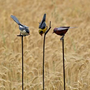 Tuteur métal 1 oiseau couleur 700896