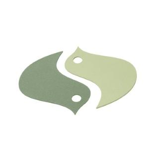 Dessous de plat oiseau vert 18,6 x 16,8 cm 702365