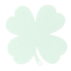 Dessous de plat trèfle vert menthe 28,5 x 28,5  cm 702367