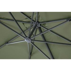 Parasol déporté rotating orientable vert 300 x 300  x 250 cm 702420