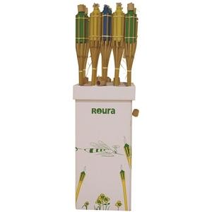 Torche en bambou avec bouchon de couleur 120 cm 702429