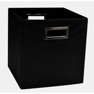 Panier pour meuble home 110 noir 123x50xH83 cm 702461