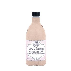 Flacon savon de Marseille huile de cocon 480 ml 703037