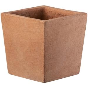 Pot carré moderne en terre cuite beige 15x15xH15 cm 704858