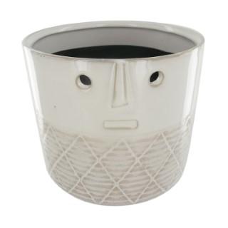 Cache pot Alo en céramique blanc mat Ø 14 x H 12,5 cm 705088