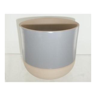 Cache pot Sandstone gris 13,5x12,2 cm 705097