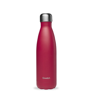 Bouteille isotherme Qwetch inox Matt rose framboise 500 ml 706746