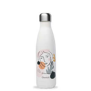 Bouteille isotherme Qwetch inox Woman crème 500 ml 706748