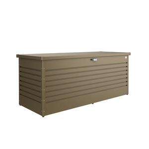 Coffre de jardin taille 200 bronze métallique 201x79x83 cm 707643