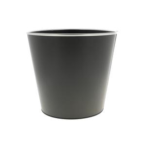 Cache pot Zinc gris mat cercle Ø 27,2 x H 25,5 cm 707816