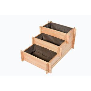 Potager basic 3 étages en bois 90x60x42 cm 708227