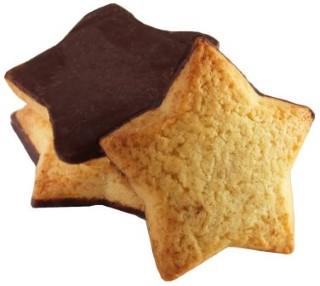 Biscuit de Noël étoile orange et chocolat noir en vrac 709536