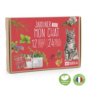 Coffret 12 sachets Jardiner pour mon chat 12x17 cm 709865