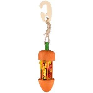 Jouet à suspendre carotte et luffa pour rongeurs Ø4,5x23 cm 710853