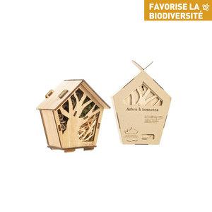 Kit hôtel à insectes en bois botanic® (à assembler et remplir) 711276