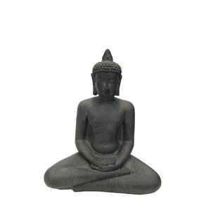 Statue de jardin Bouddha assis coloris noir - 47x18x58 cm 713222